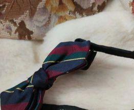 Vintage noeud papillon soie rayé