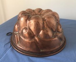 Moule à gateaux cuivre ancien