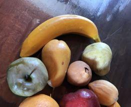 Lot de 9  fruits en plastiques vintage