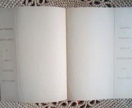 Ancien protège cahier publicitaire