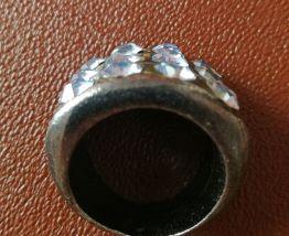 Bague métal et strass année 1997 taille 17,3 mm