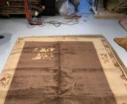 Tapis vintage Tibétain Khaden fait main, 1N05