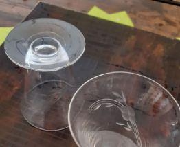Anciens petits verres ou coupes gravés