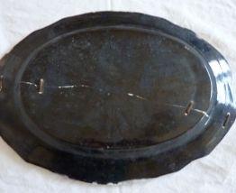 Ancien plat ovale 46 cm cul noir époque 19ème