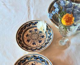 Assiettes à dessert anciennes HB Henriot Quimper Bretagne