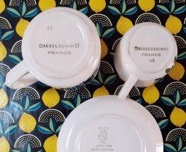 Tasses et sous-tasses Sarreguemines Digoin