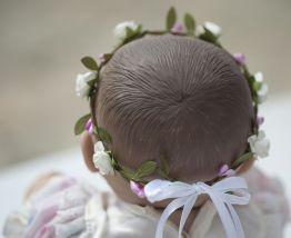 Couronne de fleurs bébé