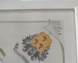 Plan du marais couleur a Paris par félix et sylvie gatier