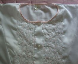 Chemise de nuit ancienne T 42 style romantique