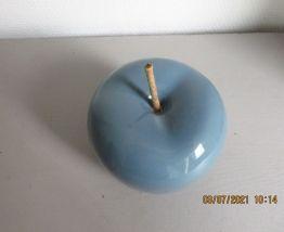 Pomme déco bleu pétrole