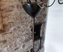 Lanterne acier électrifiée