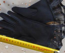 gants noirs femme anciens Tbe cérémonie
