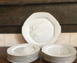 Service à gâteau porcelaine Italienne ROYAL TROGNANA