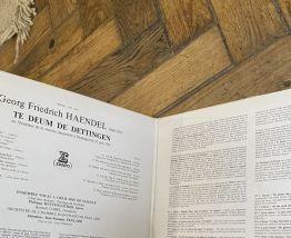 Vinyle vintage Haendel - Te Deum de Dettingen