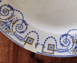 8 assiettes anciennes numérotées Sarreguemines Digoin