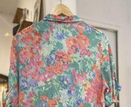 Chemise vintage à fleurs