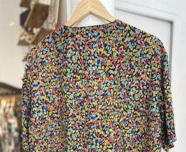 Chemise vintage multicolore