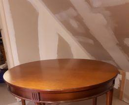 Table ronde en merisier massif 4 personnes