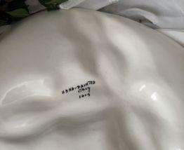 Plat a oeufs et crudité en céramique