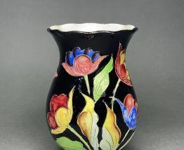 Vase décor floral Vallauris