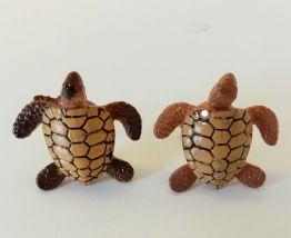 Boutons de manchette tortue tropicale, aquatique