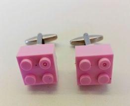 Boutons de manchette Lego®, briques roses