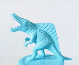 Bocal dinosaure pastel, lot de deux pots de rangement