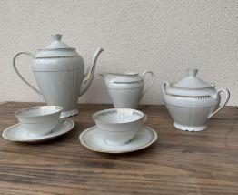 Beau service à thé en porcelaine de Sologne Larchevêque