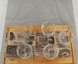 5 verres Duralex transparent vintage
