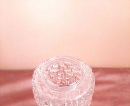 Abat jour en verre, année 60 70, verre pressé, en relief