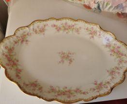 Superbe grand plat Limoges élite works, porcelain