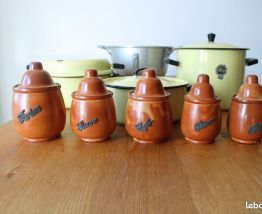 Série 5 pots en grés, années 70/80
