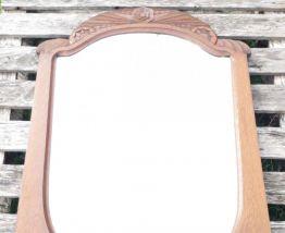 miroir art deco en bois 88x69 cm
