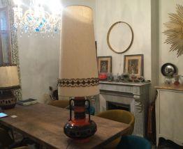 Grande lampe vintage pied céramique 1m10