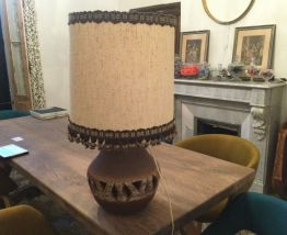 Grande lampe vintage pied céramique année 70