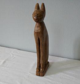 Sculpture bois Chat Egyptien