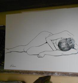 dessin d'art Delacoux