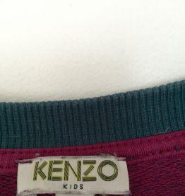 Sweat Kenzo tigre bleu pétrole