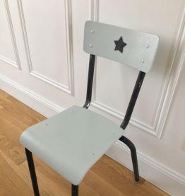 Petite chaise d'écolier Black Star années 60