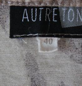 Chemisette Autre Ton écrue motif panthère