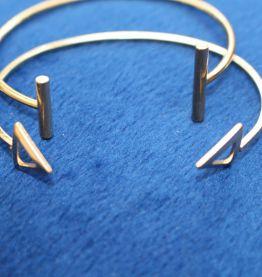 lot bracelets rond effet dore classique
