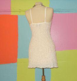 robe droite moulante gaufre transparent T38-40 romans
