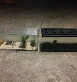 LOT DE 2 Aquariums 100 litres
