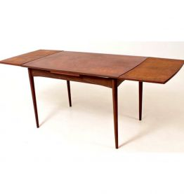 Table à manger extensible Teck design Hollandais vintage