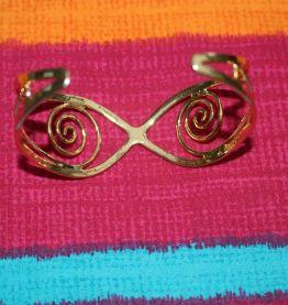 bracelet rond effet dore celtique