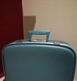 Valise bleue années 50/60