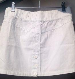 Mini jupe en coton blanc taille 36