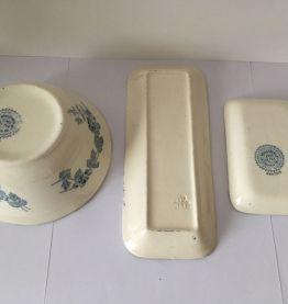 accessoires toilette céramique Terre de Fer Boulenger XIXè
