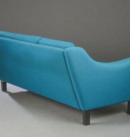Canapé et fauteuils turquoise