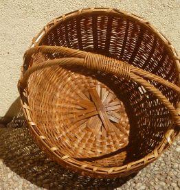 panier rond en bambou ,vintage